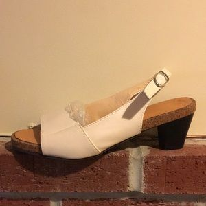 """1 """"1/2 heeled cork shoes for woman size 40"""